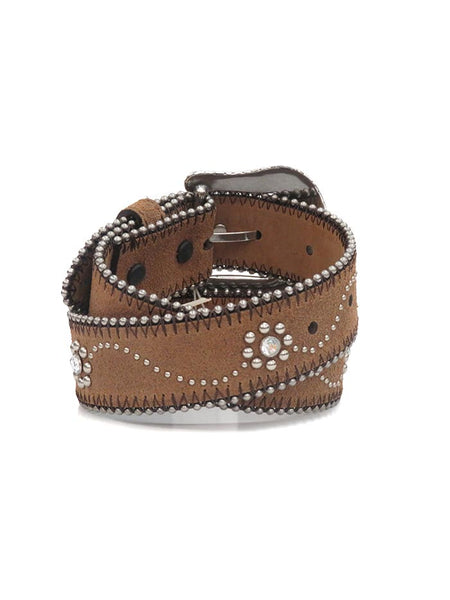 Tony Lama Little Daisy Rhinestone and Studs Leather Belt C60145 Back