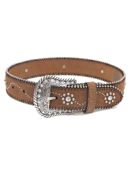 Tony Lama Little Daisy Rhinestone and Studs Leather Belt C60145 at www.JCWesternWear.com