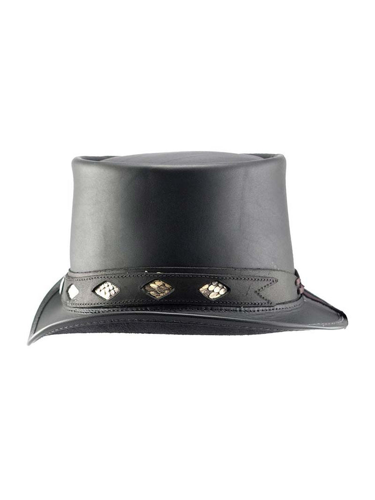 Head'n Home Diamond Inlay Band Topper Leather Hat side