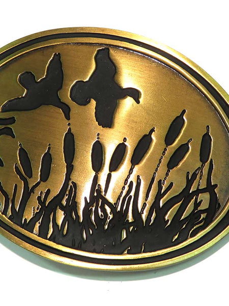 Western Edge Antique Brass Ducks Belt Buckle TBB4723