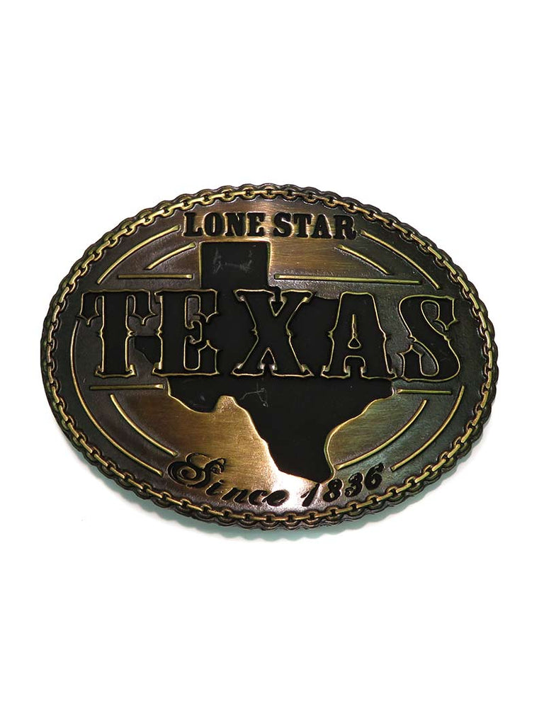 Western Edge Texas Lone Star Brass Belt Buckle TBB4679
