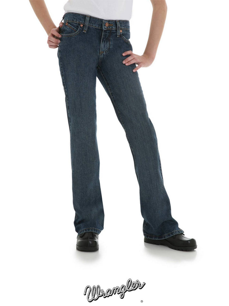 Wrangler GRC10AS JRC10AS Girls Cowgirl Cut Ultimate Riding Jean Cash