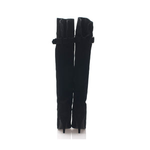 1204 SUEDE LEATHER OTK BOOTS, BLACK