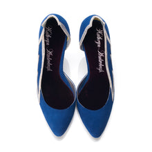3001 SUEDE WING PUMPS, MARINE
