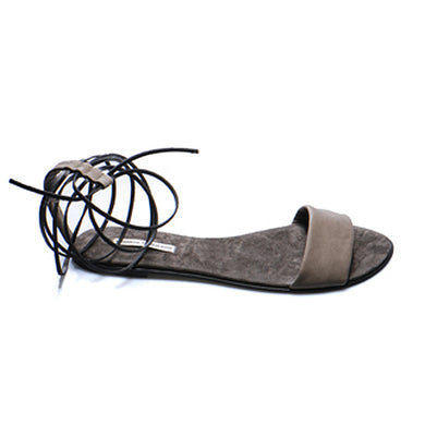 3011 LEATHER FLAT SANDALS, ANCIENT MOCHA