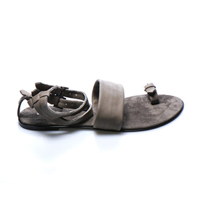 3013 LEATHER FLAT SANDALS, ANCIENT MOCHA