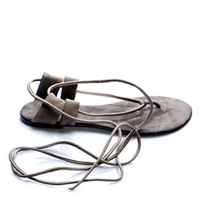 3014 LEATHER FLAT SANDALS, ANCIENT MOCHA
