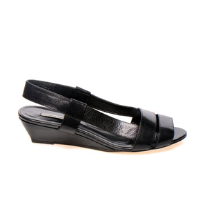 3031 LEATHER SLINGBACKS, BLACK