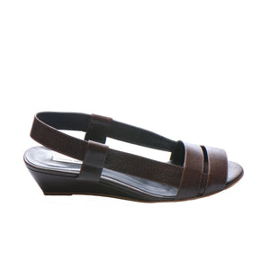 3031 LEATHER SLINGBACKS, CHESTNUT