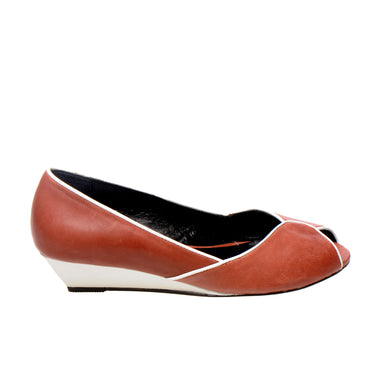 3032 LEATHER PUMPS, BRICK