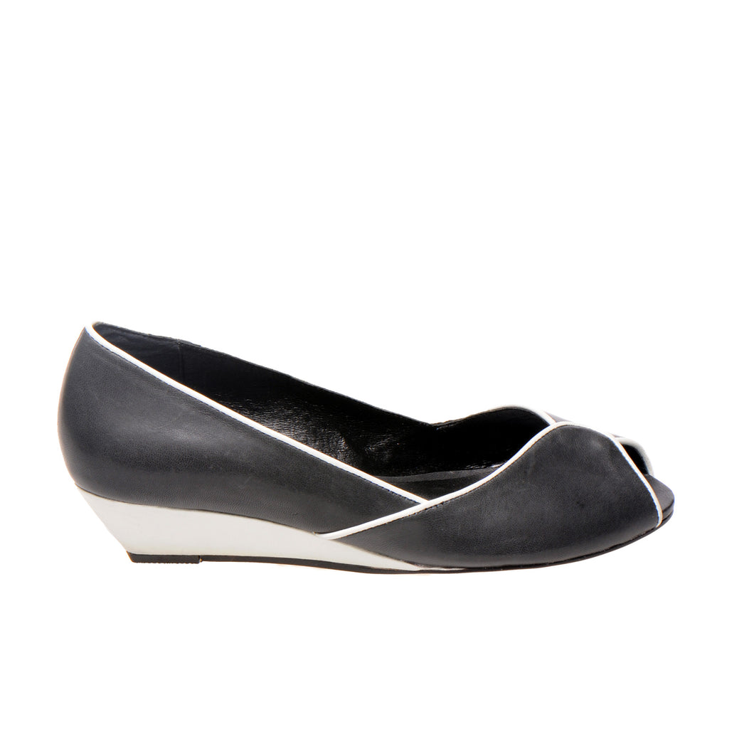 3032 LEATHER PUMPS, GREY