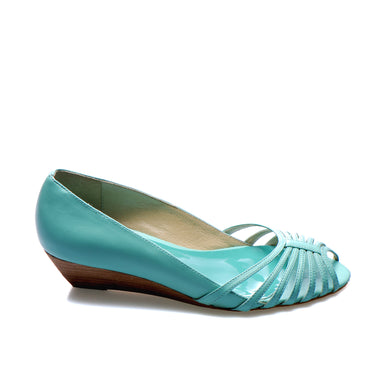 3033 LEATHER PUMPS, SKY