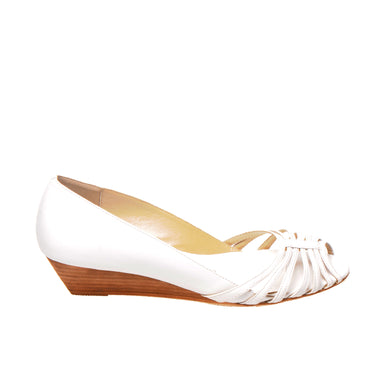 3033 LEATHER PUMPS, WHITE