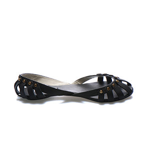 3047 LAMBSKIN FLAT SHOES, BLACK
