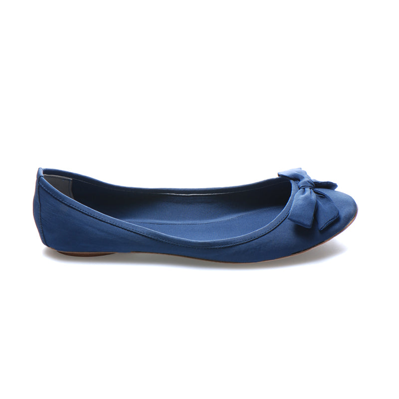 3067 SILK GEORGETTE FLATS, BLUE