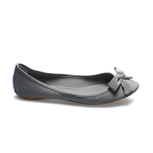 3067 SILK GEORGETTE FLATS, GREY