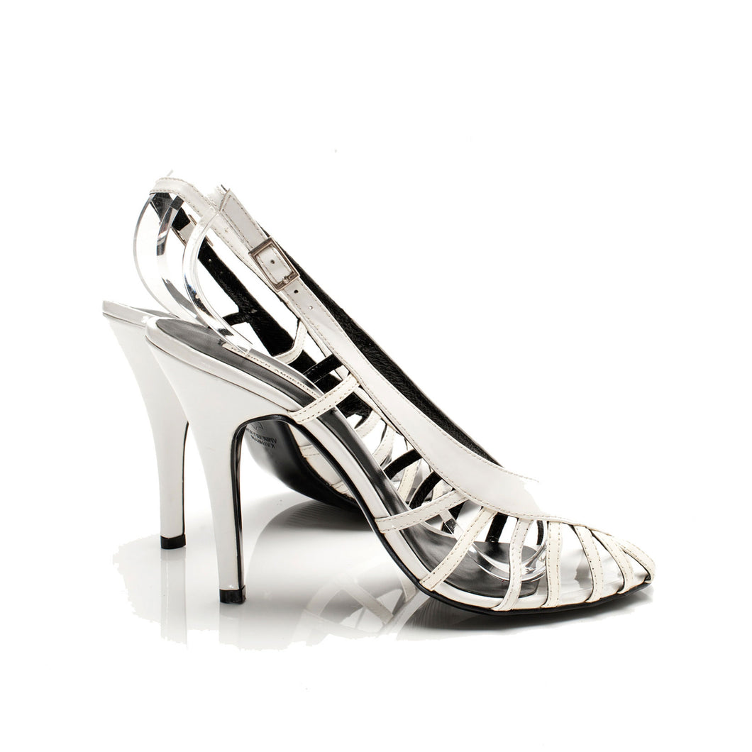 3072 PATENT LEATHER HEELS, WHITE