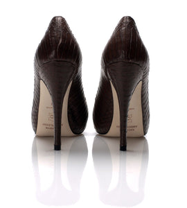 3084 SNAKE SKIN STILETTO PUMPS, OLD WOOD