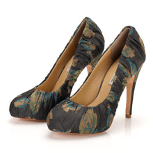 3089 JACQUARD STILETTO PUMPS, GREY MULTI
