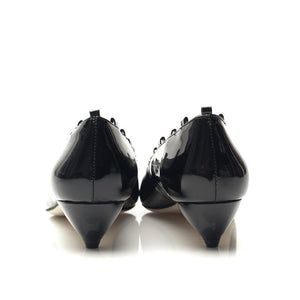 3151 PATENT LEATHER POINTY TOE PUMPS, BLACK