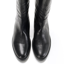 5069 LEATHER RIDING BOOTS, BLACK