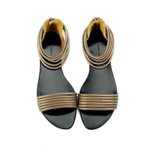 7500 LEATHER FLAT SANDALS, RETRO BRONZE