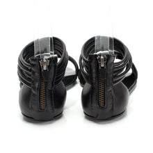 7500 LEATHER FLAT SANDALS, BLACK