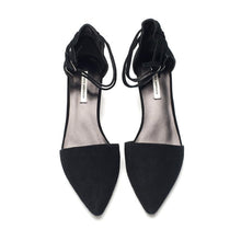K603 GOAT SUEDE LEATHER PUMPS, BLACK