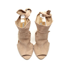 K704 SUEDE HEELS, POWDER