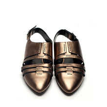 K711 LEATHER FLAT LOAFERS, BRONZE
