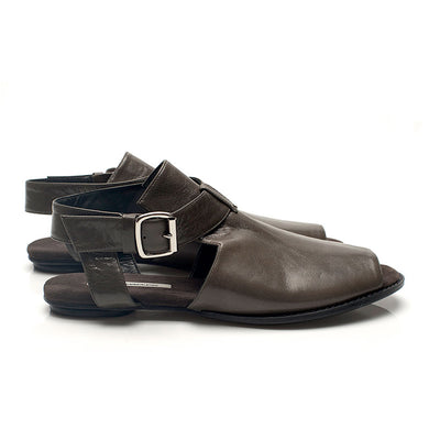 K712 LEATHER FLAT LOAFERS, MOSS