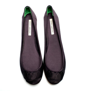 3063 PETAL SILK FLATS, PURPLE