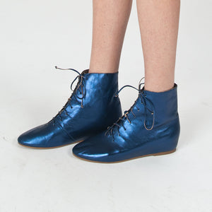 J117 LEATHER HIGH-TOP BOOTS, MARINE