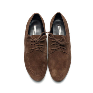 J559 SUEDE OXFORD SHOES, CACAO