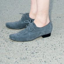 J559 SUEDE OXFORD SHOES, DARK GREY