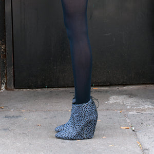 K305 CALFHAIR WEDGE BOOTS, JASMIN DOT