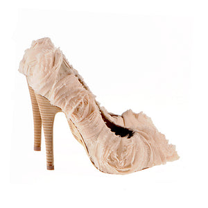 K402 SILK BLEND STILETTO PUMPS, LIGHT PEACH