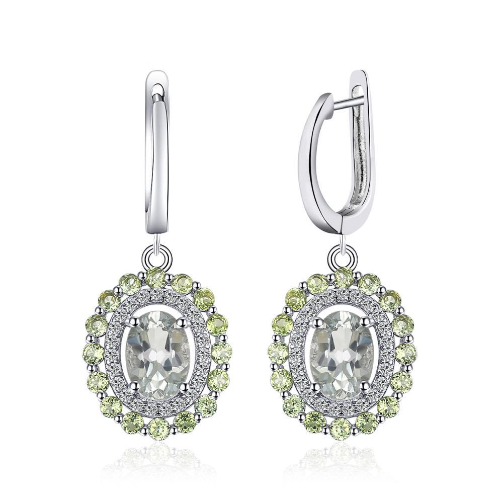 Beautiful Green Amethyst Clip Earrings