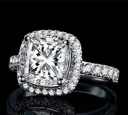 Cushion Shaped Solitaire Engagement Ring
