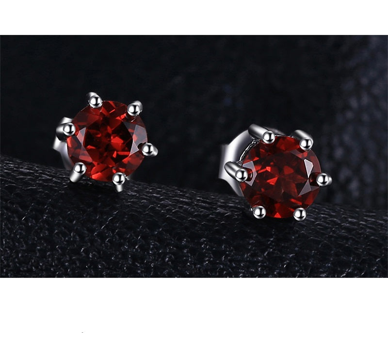 Smart Natural Red Garnet Earrings