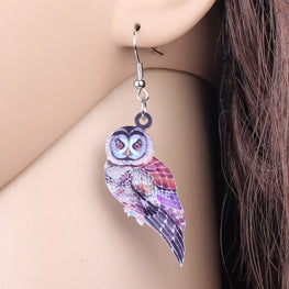 Fashionable Parrot Shaped Earrings