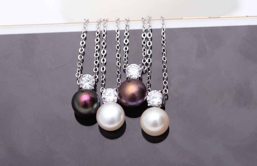 Pearl Pendant With Silver Necklace