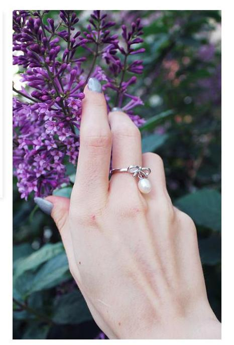 Classic Bow Knot Pearl Ring