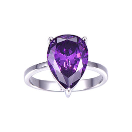 Classic Natural Purple Amethyst Ring
