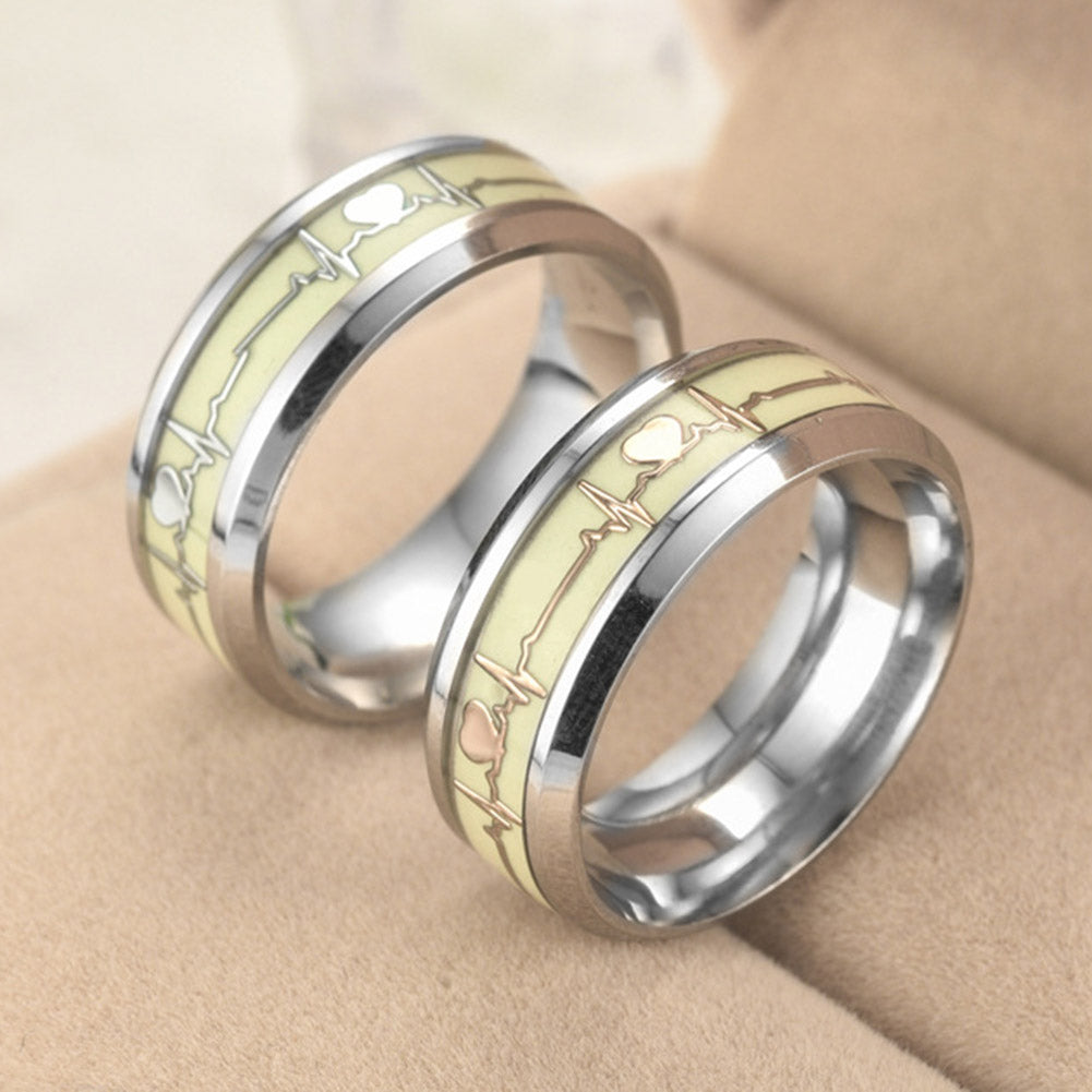 Special Luminous Heart Shaped Ring
