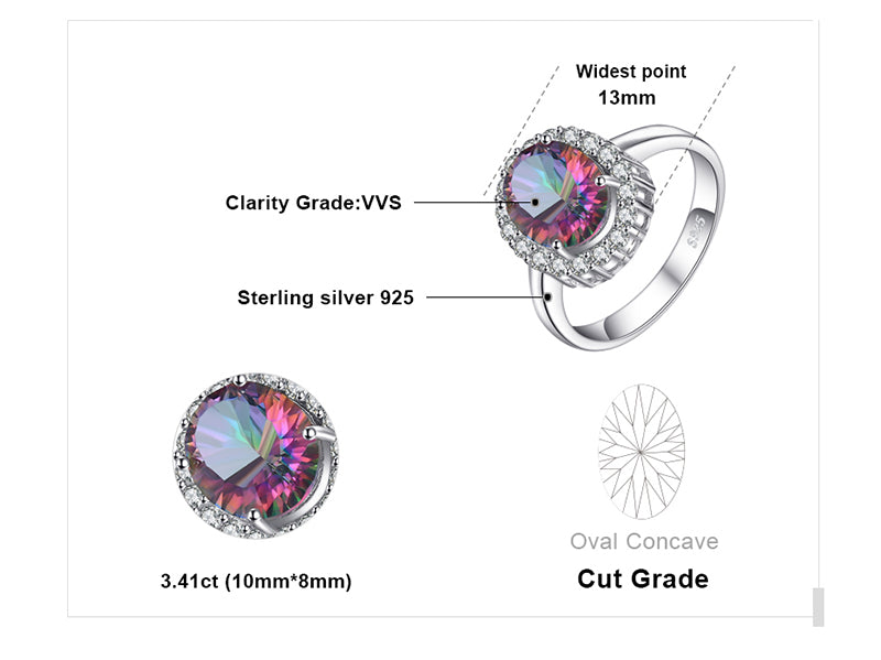 Classic Fire Rainbow Topaz Rings