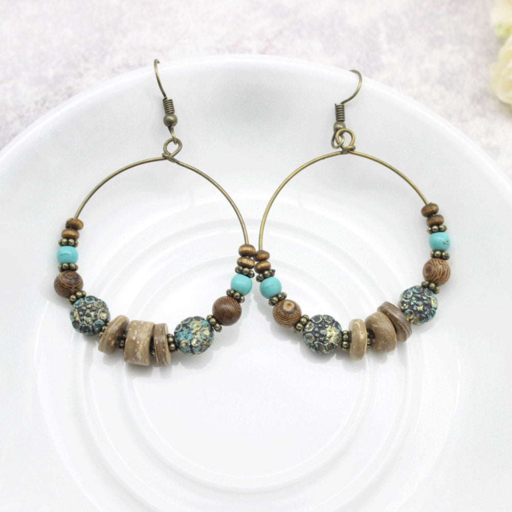 Drop Earrings With Traditional Design