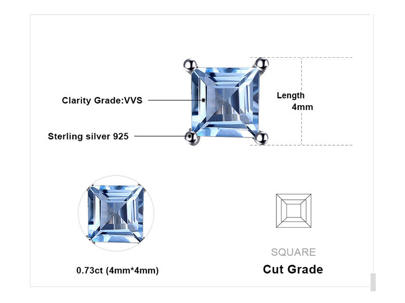 Classic Princess Cut Earrings