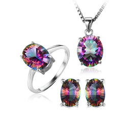 Exceptional Rainbow Topaz Jewelry Set