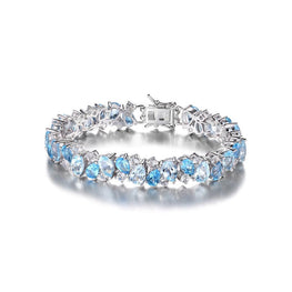 Extremely Beautiful Blue Topaz Bracelet